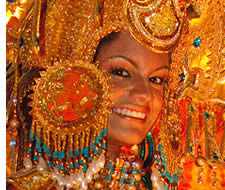 A queen in Panama's Carnival