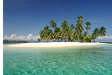 White sand islands in San Blas